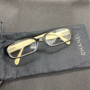 Chanel brown, tan and black glasses frame